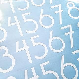 Modern Style Die Cut Vinyl Numbers (2 inch Matte White)