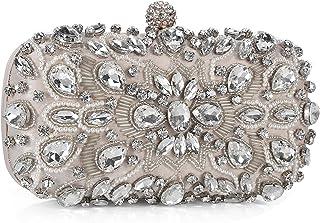 Women Noble Crystal Beaded Evening Bag Vintage Wedding Clutch Purse