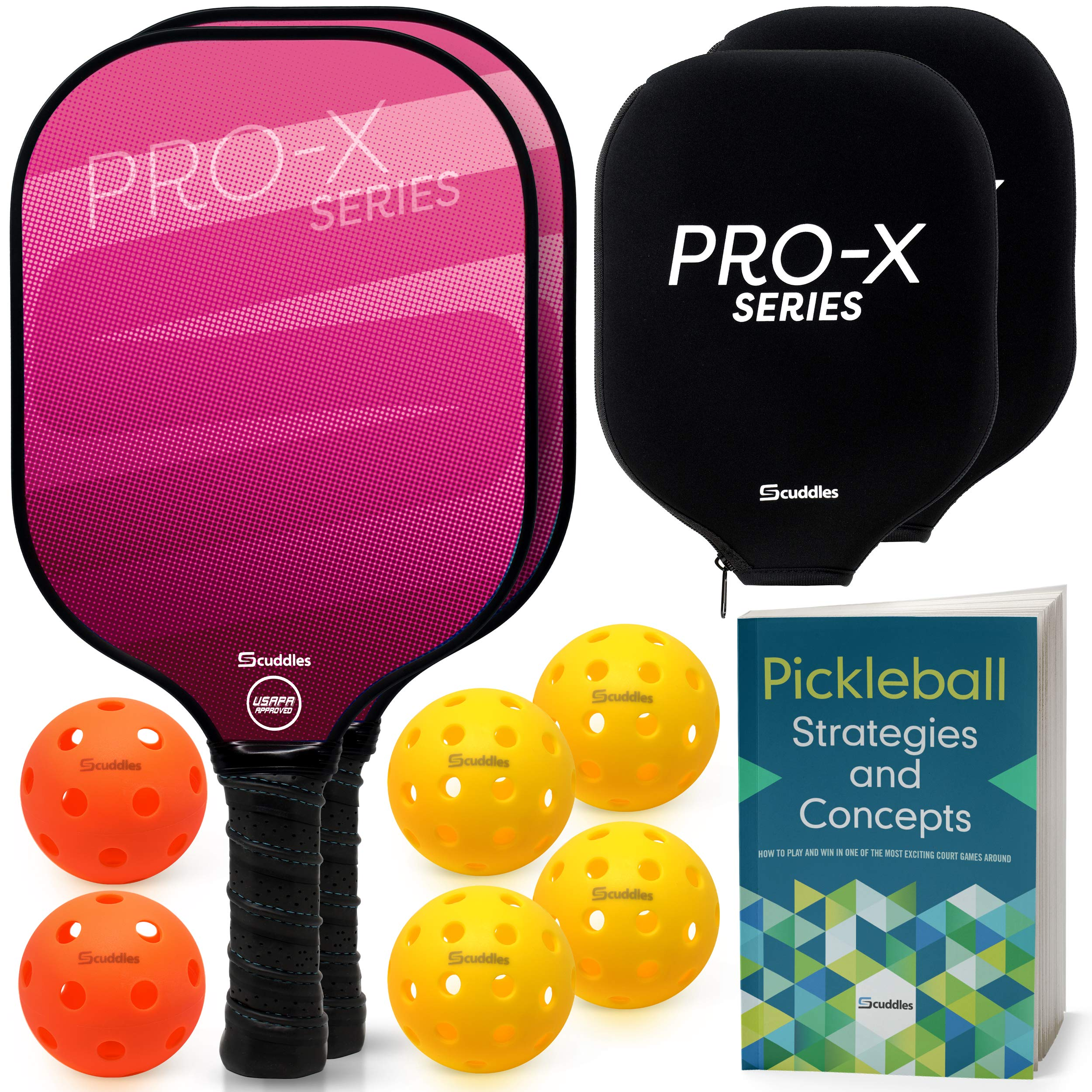 Scuddles Pickleball Paddle Set of 2 USAPA Approved Pic -BXF5