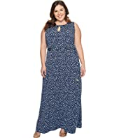MICHAEL Michael Kors - Plus Size Clara Print Belted Maxi