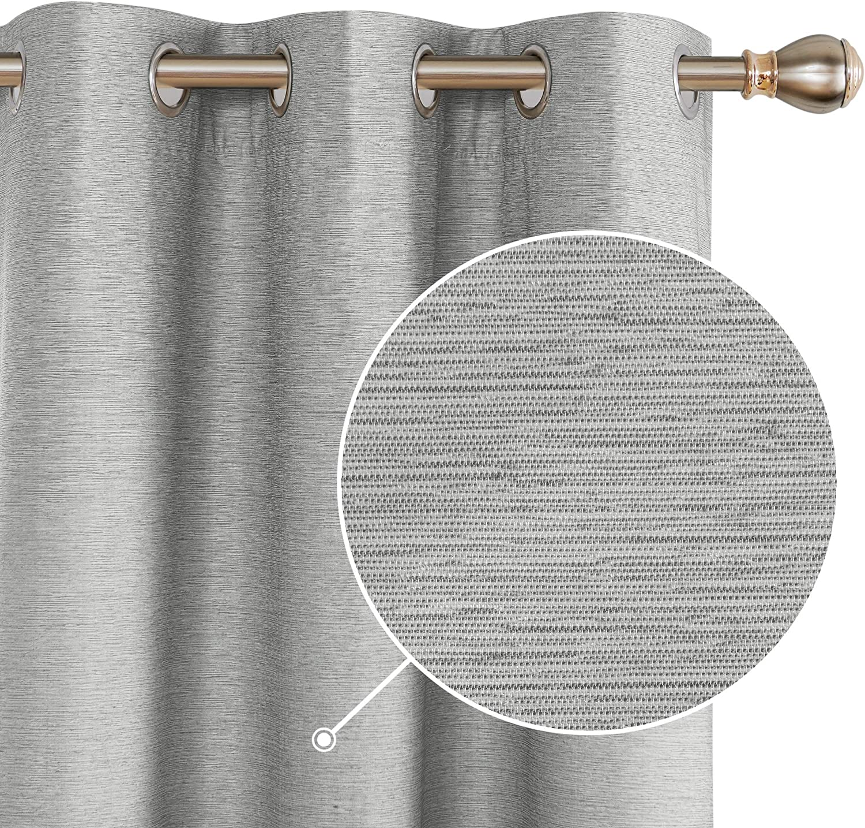 Award-winning store Deconovo Shiny Textured Max 41% OFF Blackout Thermal Room Darkening Curtains