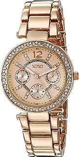 XOXO Women's Quartz Metal and Alloy Watch, Color Rose Gold-Toned (Model: XO5860)