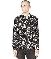 Dark Floral Long Sleeve Shirt