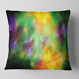 Designart Colorful Sky with Blur Stars' Abstract Throw Cushion Pillow Cover for Living Room, Sofa 18 in. x 18 in