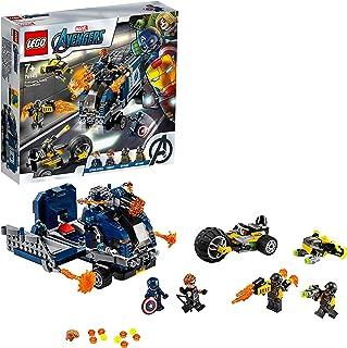 LEGO Super Heroes - Vengadores: Derribo del Camión, Set de Construcción de Aventuras de Superhéroes, Incluye Minifiguras de Capitán América y Ojo de Halcón (76143)