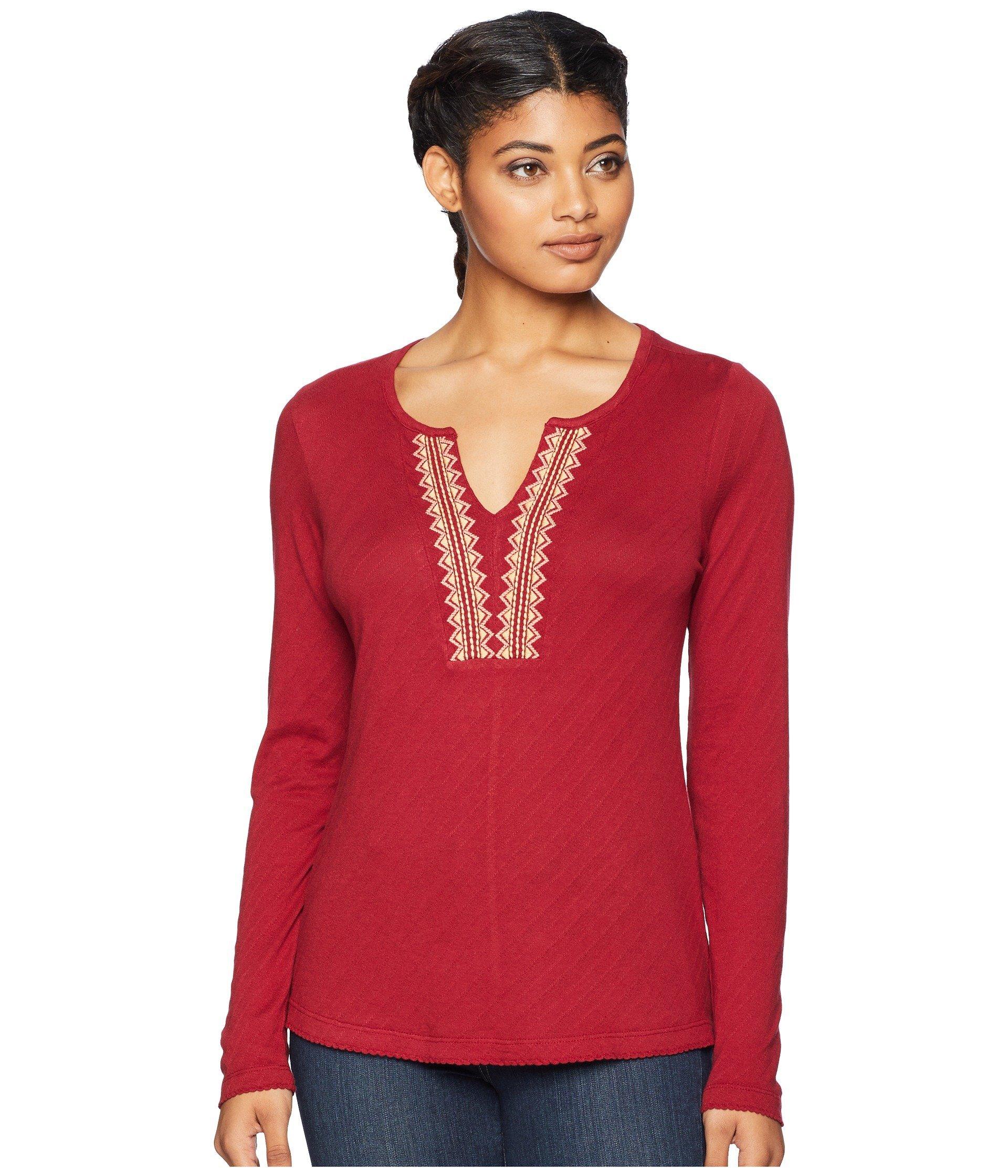 Aventura Tibetan Penny Sleeve Long Shirt Red Clothing 6r0Xx6