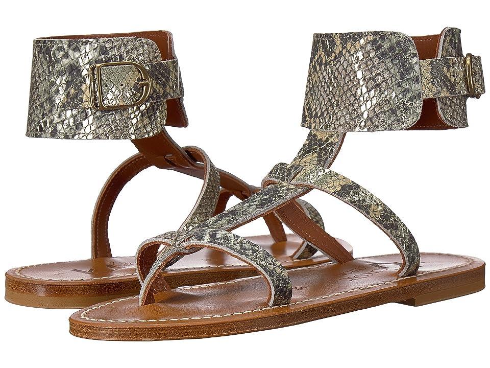 K.Jacques Caravelle Hawaii Sandal (Jungle Green Snake) Women