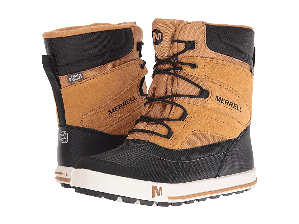 Merrell Kids Snow Bank 2.0 Waterproof (Toddler/Little Kid) (Wheat/Black Leather) Boys Shoes