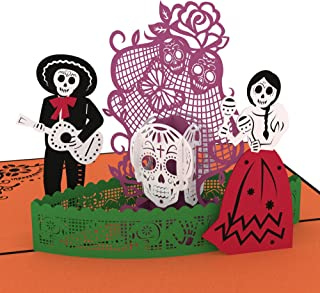 Lovepop Day of the Dead Pop Up Card, Halloween Card, 3D Card, Skeleton Card, Day of the Dead, Greeting Cards, Popup Greeting Cards, Halloween