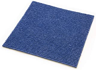 IncStores Berber Carpet Tiles (20 Tiles - 20 Sqft, Blue)