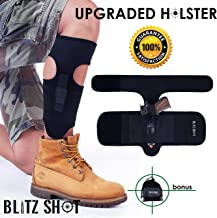 Ankle Holster for Concealed Carry Universal Ankle Holster for Men and Women 2xStronger Velcro Adjustable Ankle Holster for Glock 43 42 36 26 19, Smith&Wesson M&P Shield, Ruger LCP LC9, Sig Sauer