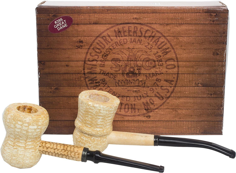 Missouri Meerschaum Great Dane shop 2-Corncob Ultra-Cheap Deals Gift Pipe Set