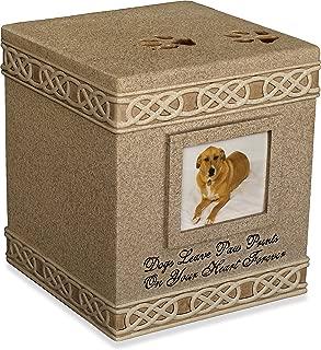 Angel Star 6-Inch Pet Urn for Dog, Dark Brown