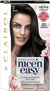 Clairol Nice'n Easy Permanent Hair Color, 2 Black, 1 Count