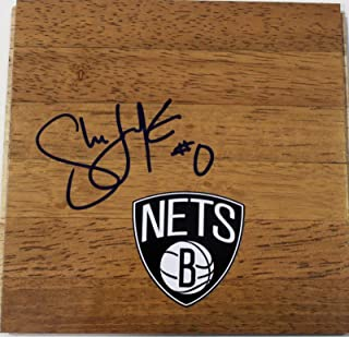 Shane Larkin Signed Floorboard w/COA Brooklyn Nets Basketball - Autographed NBA Floor Boards