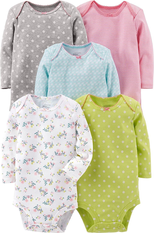 Simple Joys by Carter's Baby 5-Pack Long-Sleeve Bodysuit