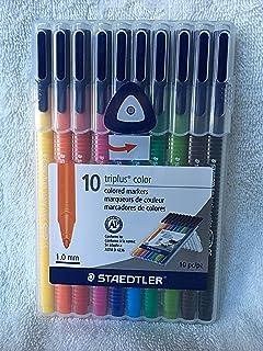 Staedtler Triplus Color - 10 Piece Colored Marker Set - (1.0mm) 10 Piece - SB10A6