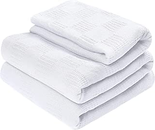 Utopia Bedding Premium Cotton Blanket Full/Queen White - Soft Breathable Thermal Blanket - Ideal for Layering Any Bed