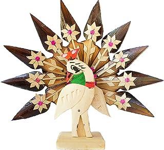 DC ECO Home décor Original Bamboo Made Designed Peacock Statue.
