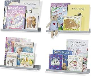 قفسه های شناور برای دیوار دکوراسیون Wallniture Denver - دکوراسیون قفسه اتاق کودکان - صفحه نمایش قفسه عکس 17 اینچ از 4 (خاکستری)