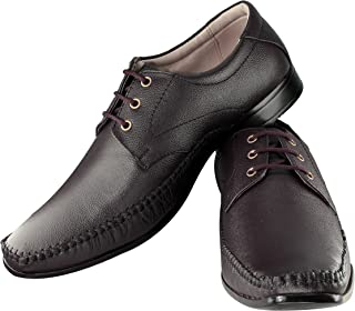 Tapps Men's Genuine Leather Formal Shoes(Brown) Lace Up