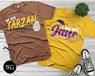 disney matching shirts, Tarzan and Jane, disney matching tees, disney trip, disney vacation, wifey, hubby, mickey mouse shirt, disney