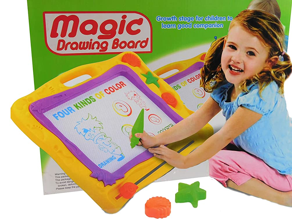 ALLKINDATHINGS Children Kids Toy Magic Drawing Sketch Educational Board Gift with Pens Stamps