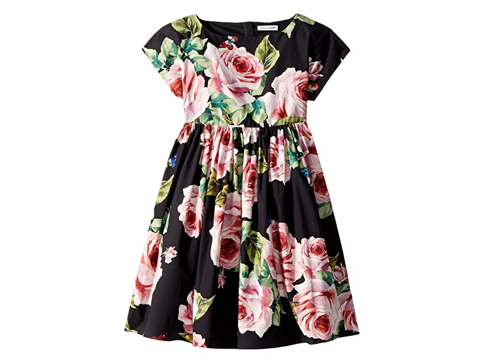 Dolce & Gabbana Kids Sleeveless Dress (Toddler/Little Kids) (Black Print) Girl