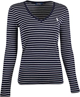 Ralph Lauren Polo Womens Perfect Long Sleeve V Neck T-Shirt