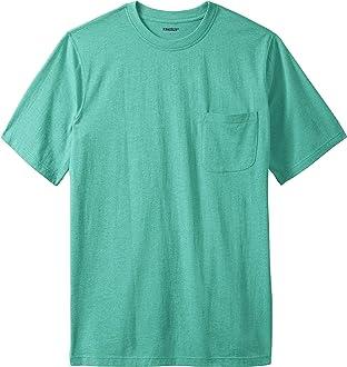 KingSize Mens Big /& Tall Shrink-Less Lightweight Henley Longer Length T-Shirt