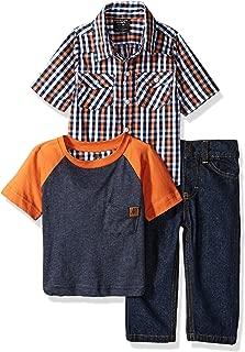 V-Neck T-Shirt American Hawk Baby Boys 3 Piece Basketball and Denim Short