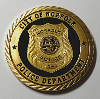 Norfolk Police Department Colorized Challenge Art Coin