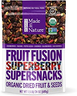 Made In Nature Superberry Fruit Fusion, 24 oz - Organic Fruit and Nut Trail Mix