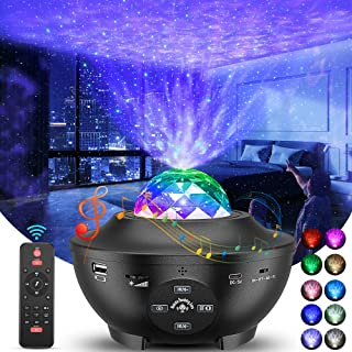 Star Projector, Galaxy Projector with Remote Control, 3 in 1 Light Projector w/LED Nebula Cloud with Bluetooth Music Speak...