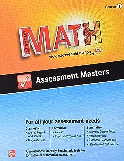 Glencoe Math, Assessment Masters, CCSS Common Core Edition, Course 1