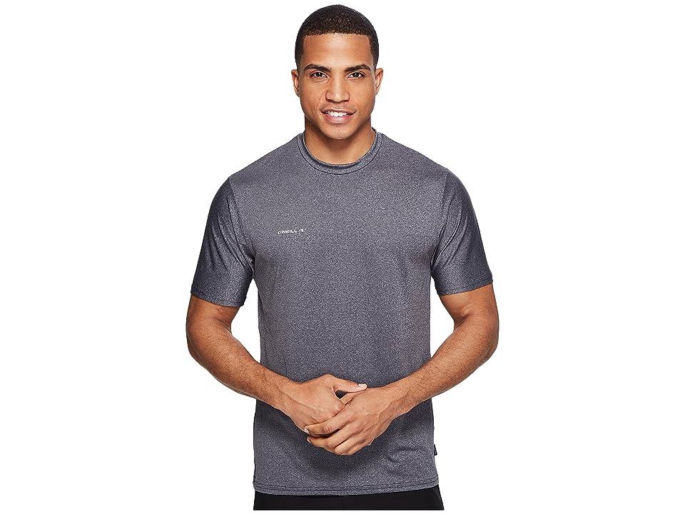O'Neill Hybrid Short Sleeve Surf Tee (Graphite) Men's Swimwear