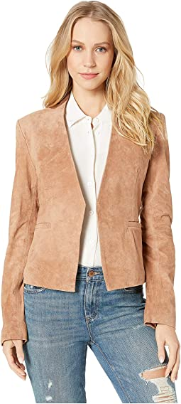 Suede Open Blazer in Hazelnut