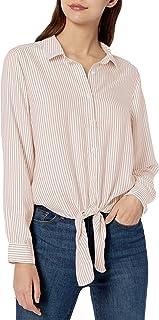 Goodthreads Amazon Brand Women's Modal Twill Tie-Front Shirt