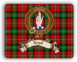 Scottish Clan Boyd Tartan Crest Computer Mouse Pad