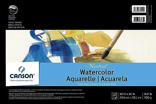 ventas en línea de venta Canson Montval Watercolour Pad, Cold Press Acid Free French Paper, Paper, Paper, Fold Over, 60kg, 25cm x 38cm , 12 Sheets  descuento de ventas en línea