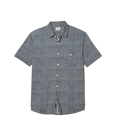 Faherty Short Sleeve Knit Coast Shirt (Fish Scale Batik) Men