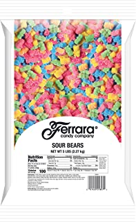 Sour Gummy Bears Candy, 5 Pound Bulk Candy Bag