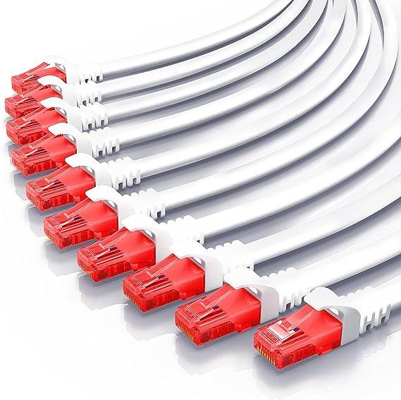 CSL - 0,5m Cable de Red Gigabit Ethernet LAN Cat.6 RJ45-10 100 1000Mbit s - Cable de conexión a Red - UTP - Compatible con Cat.5 Cat.5e Cat.7 - ...