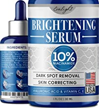 Brightening Serum - Dark Spot Corrector for Face - Made In USA - Potent Vitamin C Serum with Hyaluronic Acid, Niacinamide 10% and Alpha Arbutin for Hyperpigmentation Treatment with Anti Aging Effect