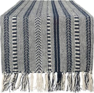 "DII Braided Cotton Table Runner Perfect for Summer, Holiday Parties and Everyday Use, 15x72"", Navy Blue"