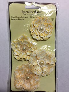 Recollections Signature 4 pc Floral Embellishments