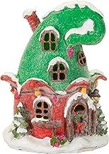 منزل قزم بإضاءة LED صغيرة من داريس، 9.5 سم × 11.4 سم × 14.9 سم، متعدد الألوان