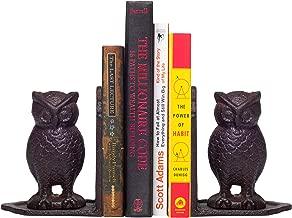 8PURE Heavy Cast Iron Owl Bookends - Bookshelf Decorative Holders, Vintage Antique Book EndsHeavy Cast Iron Owl Bookends - Bookshelf Decorative Holders, Vintage Antique Book Ends