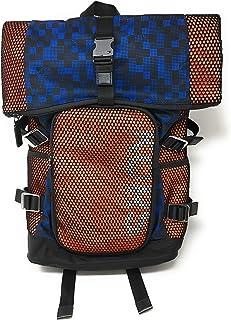 حقيبة ظهر من النايلون مطبوع عليها توقيع مايكل كورس باللون الأزرق الليلي