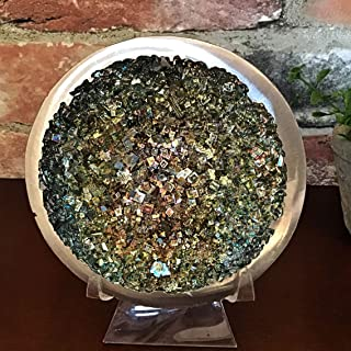Large Bismuth Crystal Geode Sculpture with Stand by Element 83